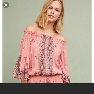 Raga pink paisley romper - large